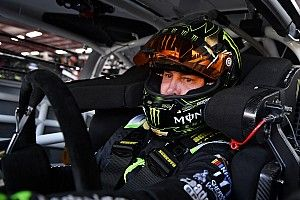 Kurt Busch leads final practice at Kansas; Larson spins
