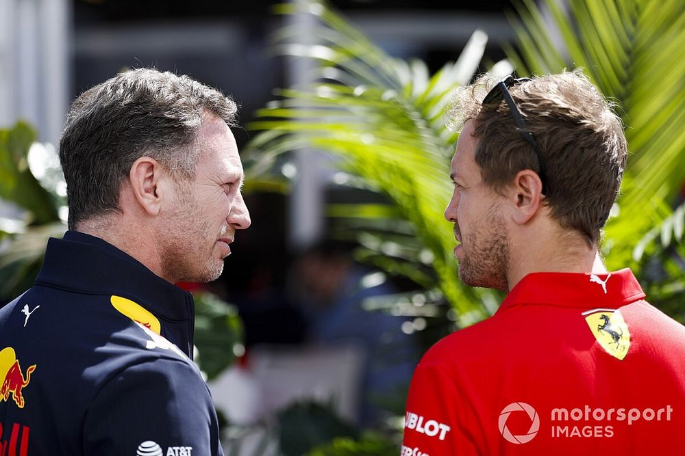 "Horner: ""No se puede quitar a Vettel lo que logró pese a este 2020"""