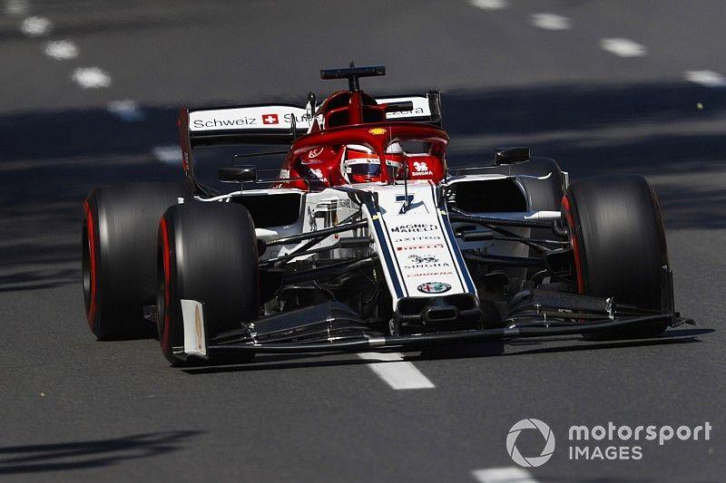 Raikkonen e Kubica largam do pitlane em Baku; Leclerc sobe para 8º
