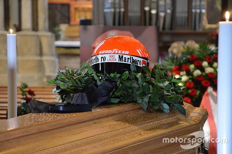Lauda'nın cenaze töreninden kareler
