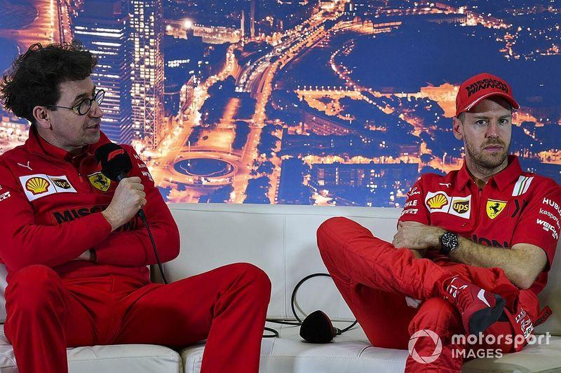 """Binotto replica a Vettel: """"Si è rovinato la gara girandosi"""""""