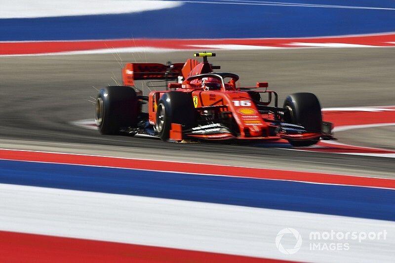Los baches causaron un problema en el acelerador de Leclerc