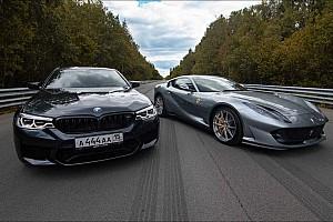 Videó: Összemérte erejét a BMW M5 F90 a Ferrari 812 Superfasttal