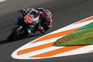 Quartararo se mantiene líder y Rossi se vuelve a caer en Valencia