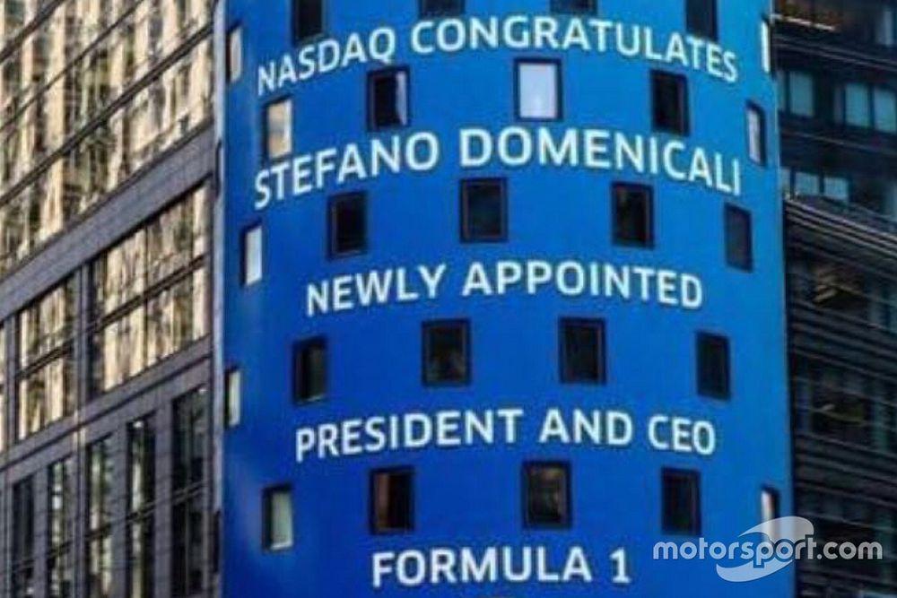Domenicali: le congratulazioni del Nasdaq a New York!