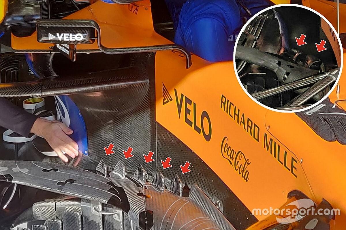 McLaren: ecco il barge board con le pinnette di squalo