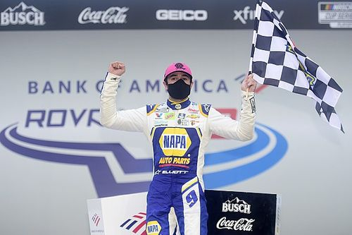 Road warrior Chase Elliott wins wild Charlotte Roval Cup race