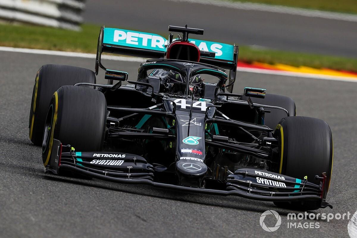 A Mercedesek elöl a Belga Nagydíj első szabadedzésén, a Ferrarik nagyon messze az első tíztől!