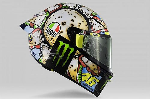 Valentino Rossi tem novo capacete em Misano na MotoGP