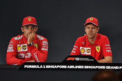 Tensão entre Leclerc e Vettel foge ao padrão da Ferrari; seria ela capaz de controlá-los?