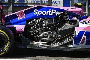 Видео: у Стролла на полной скорости срывает капот двигателя