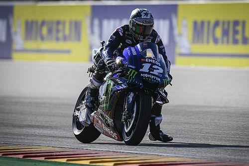 Aragon MotoGP: Vinales fastest in damp warm-up