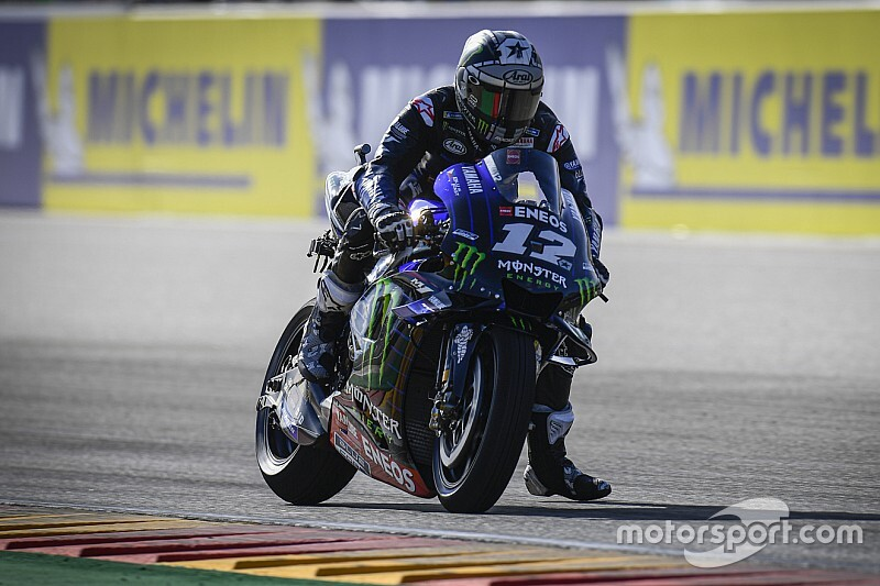 Aragon MotoGP: Vinales fastest in damp warm-up