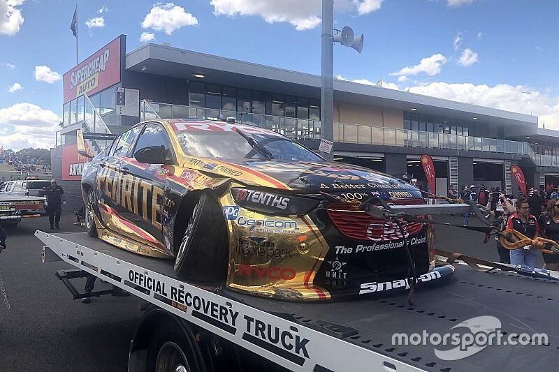 Bathurst 1000: Erebus Holden badly damaged in 20G crash
