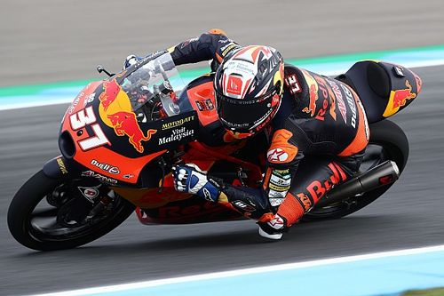 Hasil FP3 Moto3 Belanda: Acosta, Rossi dan Nepa Terlibat Insiden Besar
