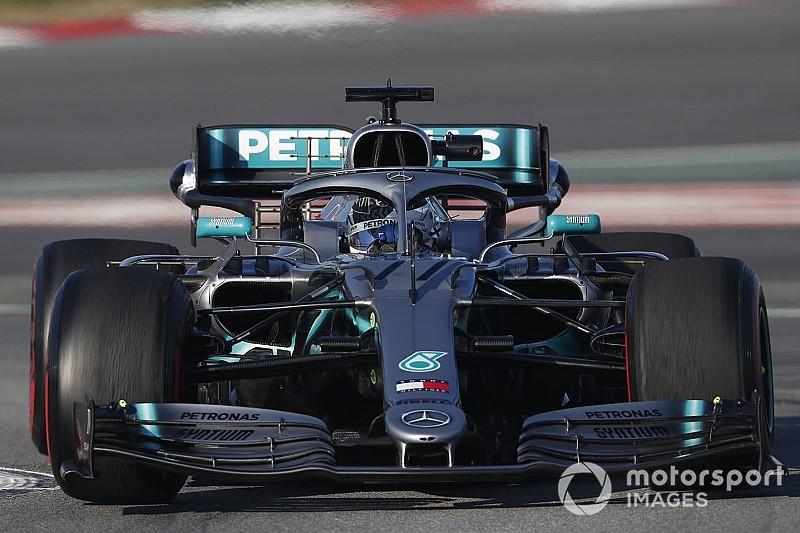 Mercedes зіткнулася з гранулюванням передніх шин на тестах в Барселоні
