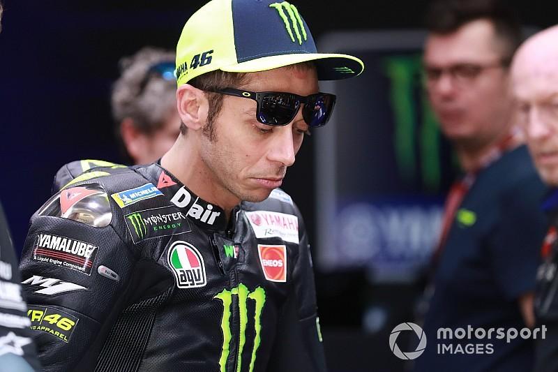 """Rossi: """"Estoy preocupado; en cinco vueltas destrocé el neumático"""""""