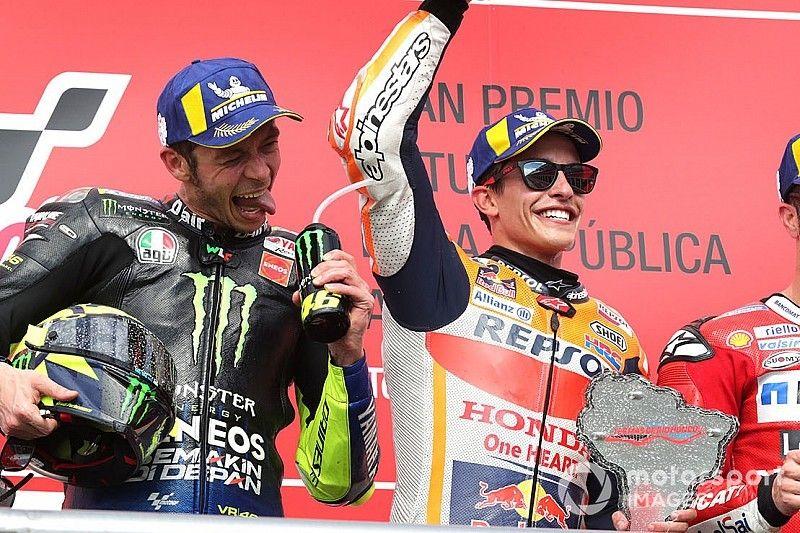 """Márquez: """"¿Rossi compañero de equipo? ¡Hombre!, si corre hasta los 50…"""""""