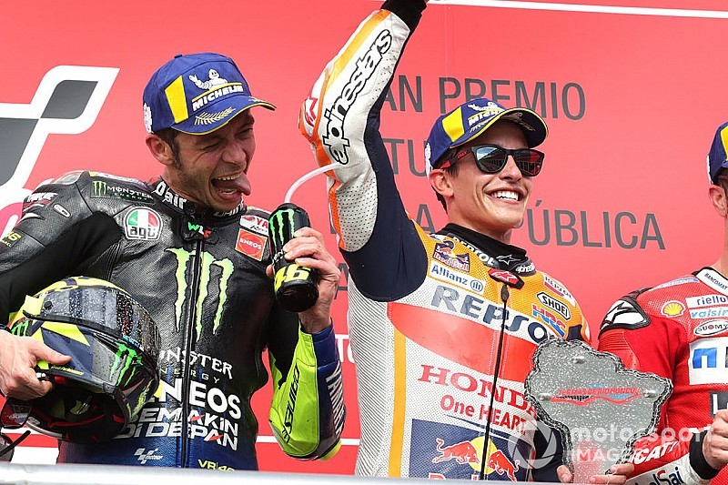 Marquez says he was rooting for Rossi in Dovizioso duel
