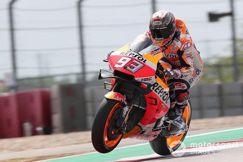 """Marquez e il """"cucchiaio"""" Honda: """"Si sente il carico aerodinamico, soprattutto in frenata"""""""