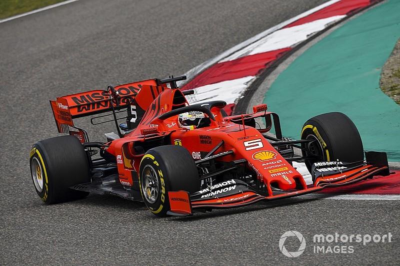 F1中国FP1:フェラーリ&ベッテル、ミディアムで速し! レッドブルのフェルスタッペンは4番手