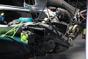 GALERÍA TÉCNICA: las actualizaciones en los F1 desde el pitlane en Shanghai