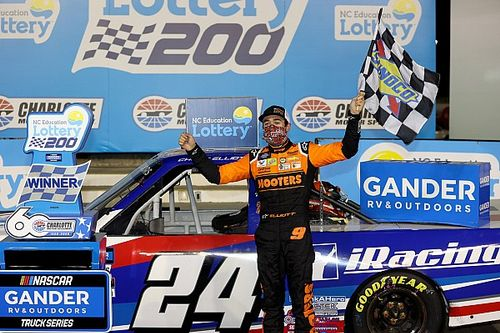 Chase Elliott cashes in bounty with Truck win over Kyle Busch