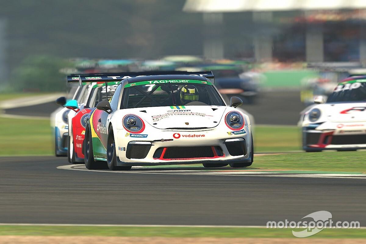 Giassi consegue mais 2 top-10s em Silverstone pela Porsche TAG Heuer Esports Supercup e sobe para oitavo no campeonato