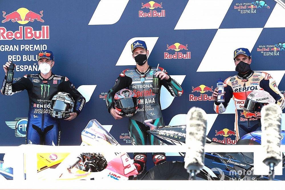 La parrilla de salida del GP de España de MotoGP 2020