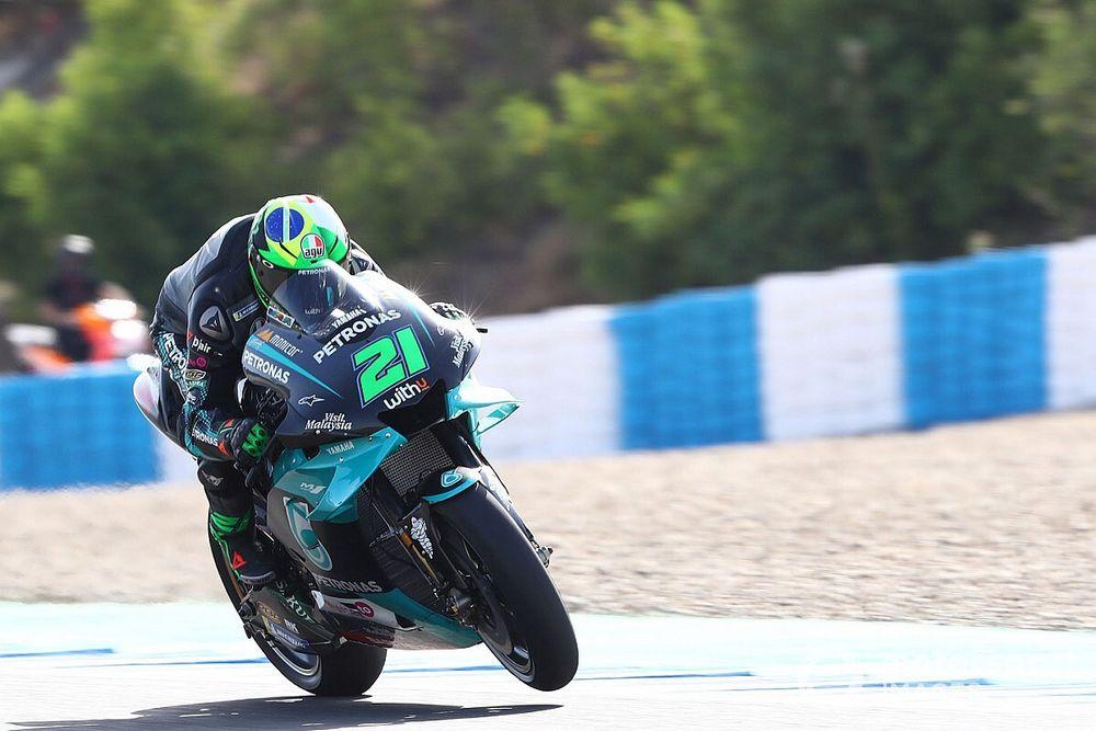 Morbidelli lidera el segundo ensayo libre en Jerez; Rossi, en apuros