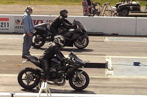 Watch This Turbo Hayabusa Race A Ninja H2