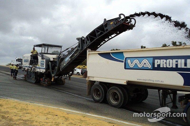 Resurfacing works begin at Perth Supercars circuit