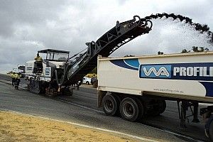 Resurfacing works begin at Perth Supercars circuit