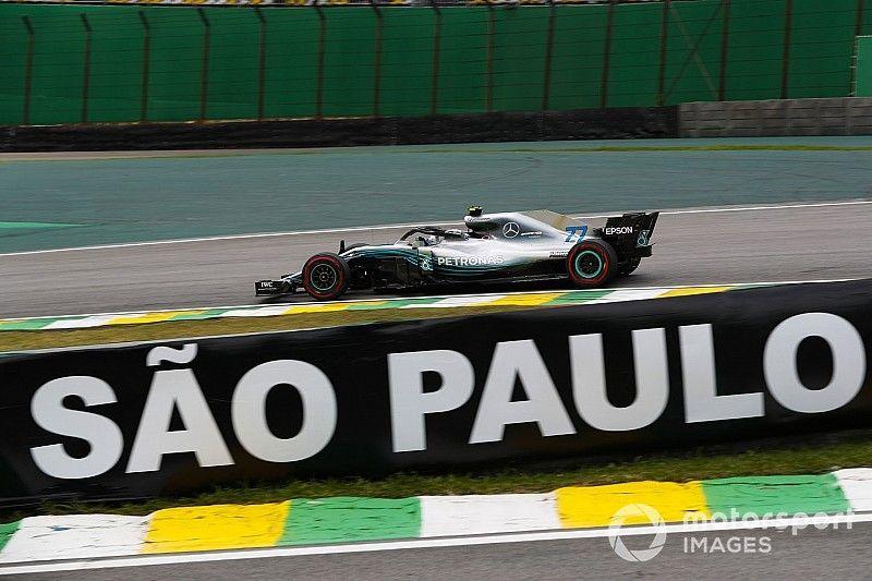 GP Brazylii: Bottas pokonuje Hamiltona o 0,003 sekundy w drugim treningu
