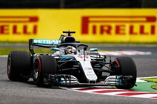 GP Japonii: Hamilton dominuje również w drugim treningu