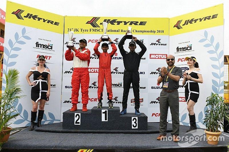 Tijil Rao overcomes Clubfoot, wins JK Tyre Novice race