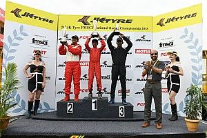 Tijil Rao overcomes Clubfoot, wins JK Tyre Novice race