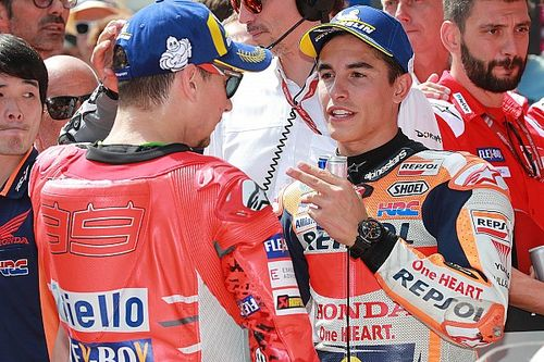 "Lorenzo ""surprised"" Marquez in last-lap battle"