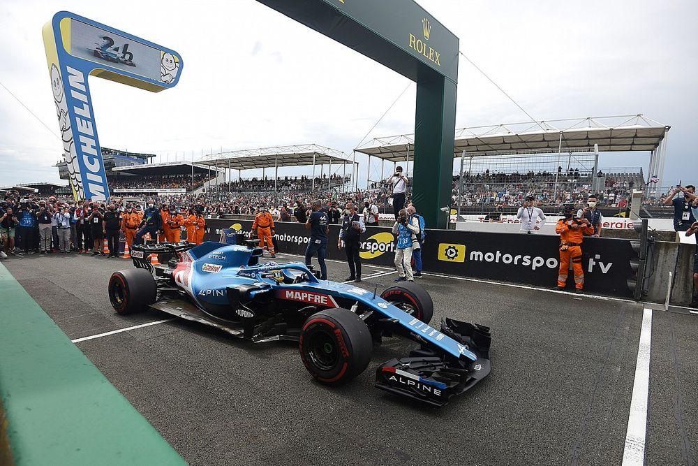 Alonso giró con el Alpine de F1 en la pista de Le Mans