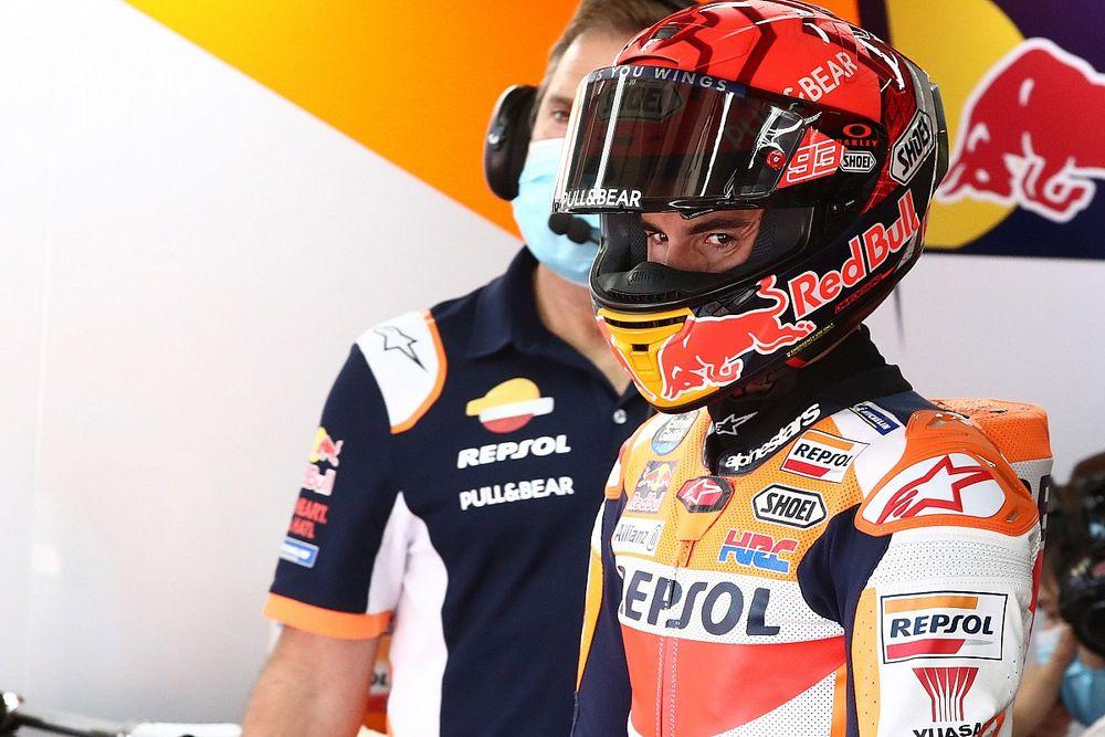 Marquez explains anger at Aragon MotoGP FP2 crash