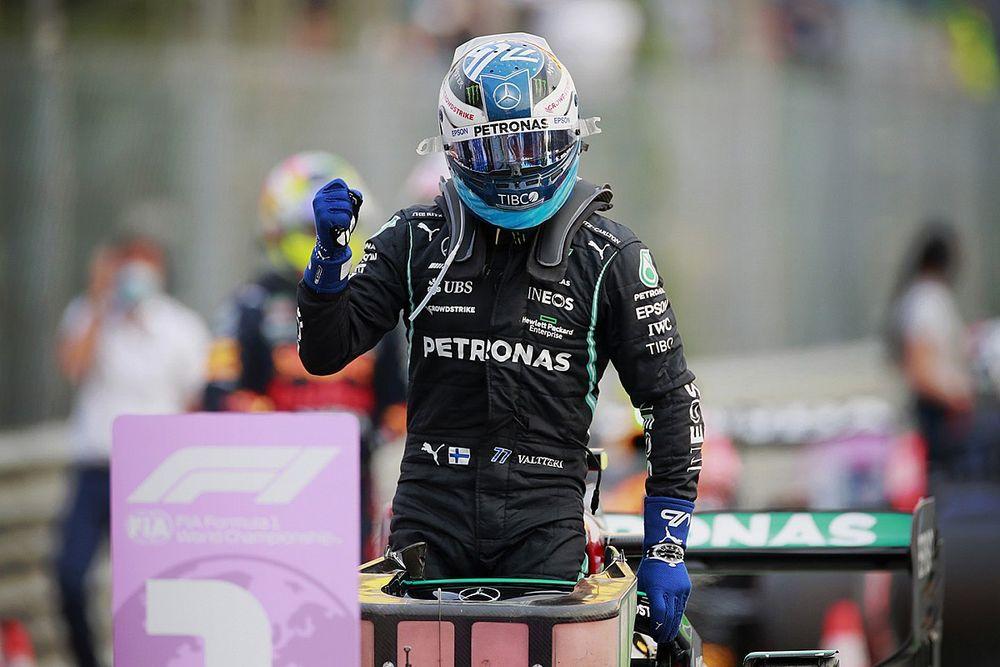 Bottas pakt eerste startplek voor Italiaanse sprintrace, Verstappen P3