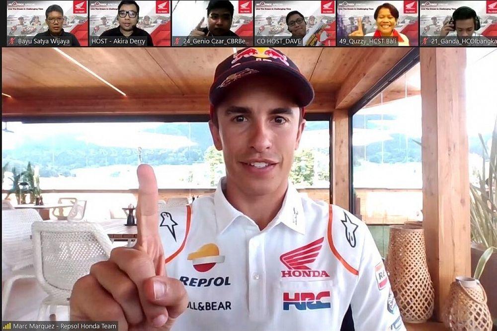Marquez Beri Semangat Komunitas Honda di Indonesia Lewati Pandemi