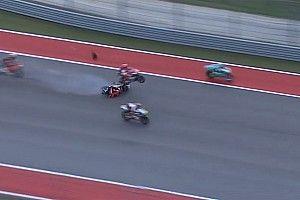 Moto3: ecco il video spaventoso del crash di Austin