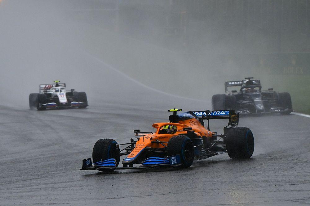 Norris questionne l'attribution des points au GP de Belgique