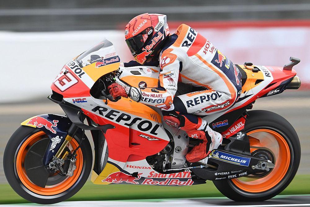 Marquez domineert eerste eerste vrije training GP van Aragon