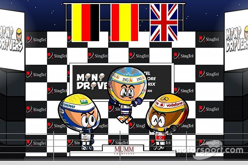 Vídeo: el GP de Singapur 2008 de F1 por MiniDrivers