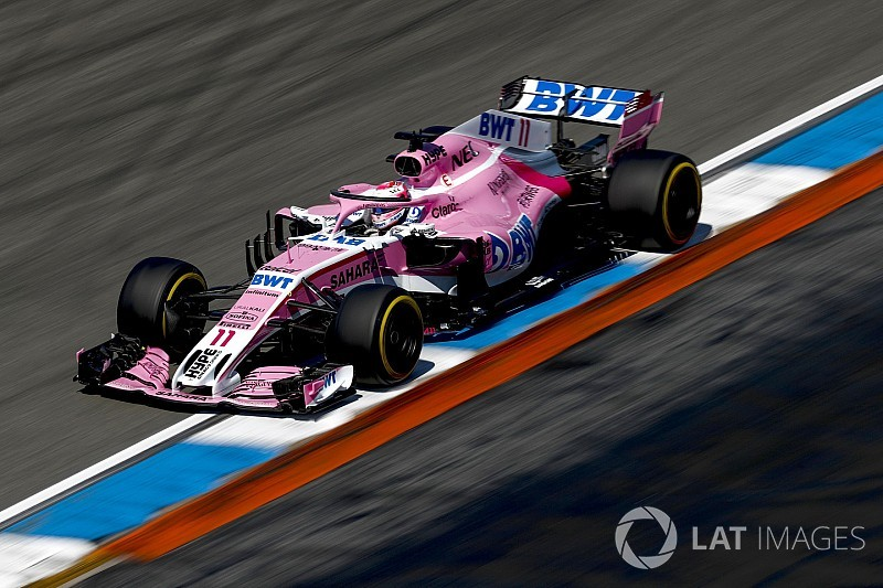 Force India tied on points with Haas after Germany double