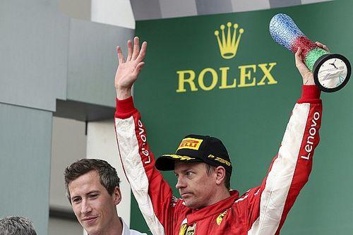 Räikkönen admite que las circunstancias ayudaron para su podio