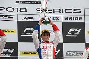 FIA-F4第3戦富士:ポールの角田裕毅、名取鉄平を抑えきり今季2勝目
