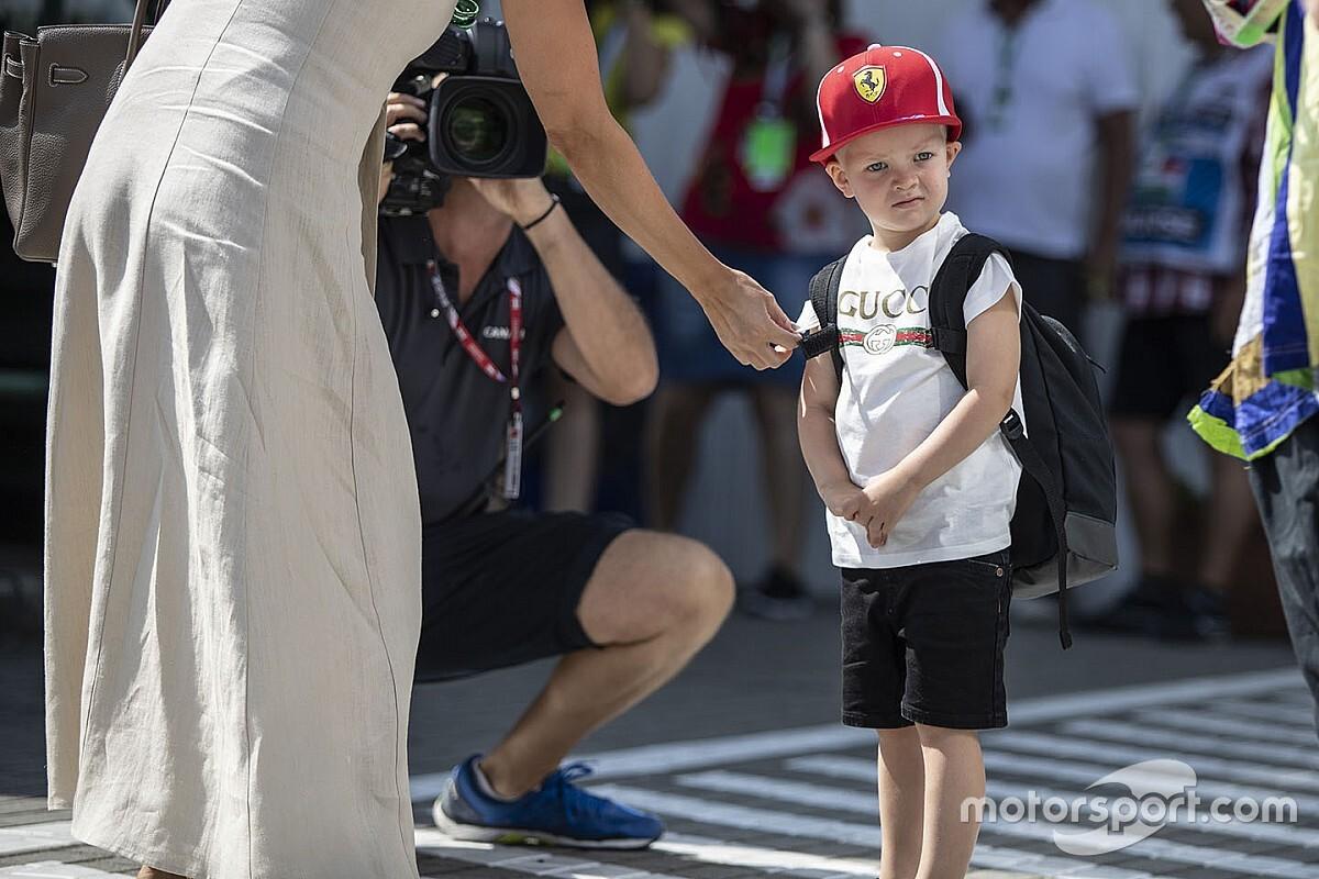 Zoontje Kimi Raikkonen maakt eerste kartmeters